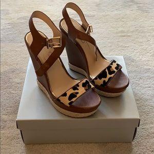 Jessica Simpson platform espadrille leopard sandal